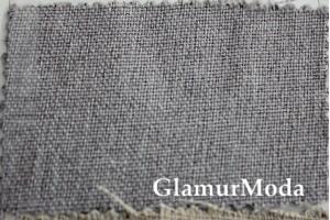 Ткань блэкаут лен светло-серый цвет