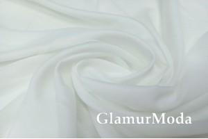 Креп вуаль теплый белый цвет, 315 см, Турция