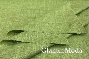 Лен портьерный (имитация ) однотонный  GREEN 280 см фисташкового цвета