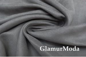 Портьерный Канвас темно-серый цвет, 310 см