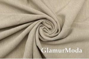 Портьерная ткань Шенилл бежевого цвета