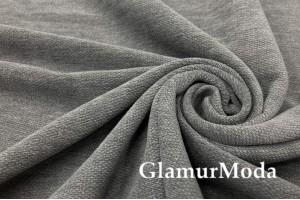Портьерная ткань Шенилл серого цвета