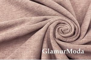 Портьерная ткань Шенилл цвета пыльной пудры