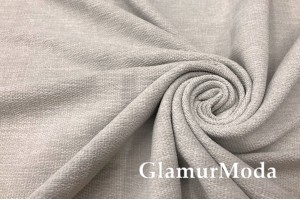 Портьерная ткань Шенилл светло-серого цвета