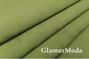 Портьерная замша 300 см, зеленый, арт. 27164, Турция