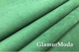 Портьерная замша 300 см, зеленый, арт. 27322, Турция