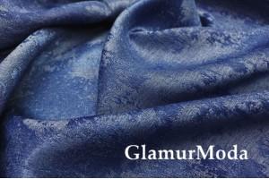 Портьерный Жаккард темно-синего цвета, арт. 517-15