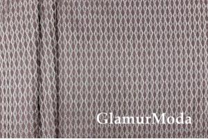Портьерный Жаккард ромбы на темно-лиловом фоне, 280 см