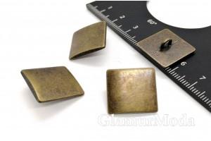 Пуговица металлическая на ножке, цвет бронза, 18 мм, Ж-16