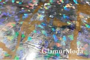 Светоотражающая ткань (рефлектив), c золотыми пятнами