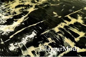 Пленка ТПУ для одежды, золотые пятна на черном