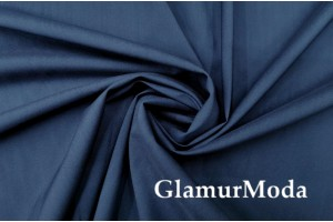 Рубашечная ткань шерсть с шёлком синего цвета 7927, Италия