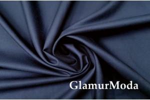 Рубашечная ткань шерсть с шелком синего цвета 7927, Италия