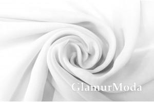Креп вуаль белого цвета с утяжелителем, 290 см, Турция