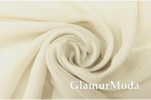 Креп вуаль молочного цвета с утяжелителем, 290 см, Турция
