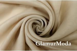 Креп вуаль бежевого цвета с утяжелителем, 290 см, Турция