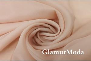 Креп вуаль пудрового цвета с утяжелителем, 290 см, Турция