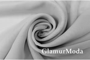 Креп вуаль серого цвета с утяжелителем, 290 см, Турция