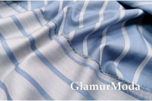 Сатин бамбуковый 240 см, голубого цвета, Турция