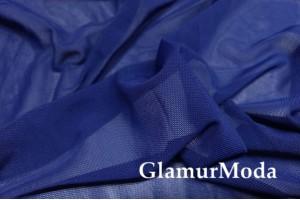 Сетка стрейчевая, темно-синий цвет