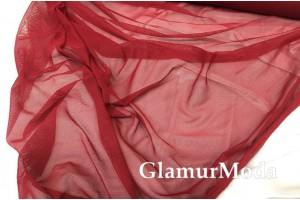 Сетка стрейчевая бордовый цвет