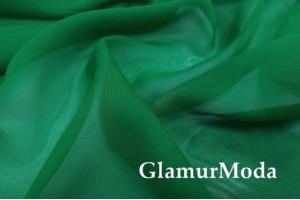 Шифон зеленого цвета