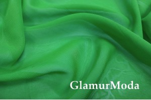 Шифон, цвет травяной