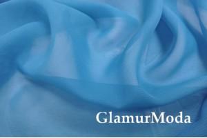 Шифон цвет голубой однотонный