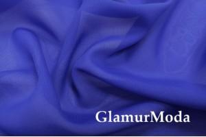 Шифон синего цвета однотоный