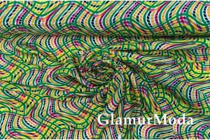 "Штапель ""Иллюзия"" зелено-желтая"