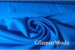 Штапель однотонный синий цвет