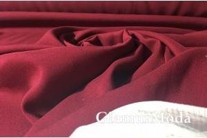 Штапель однотонный бордового цвета