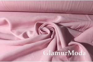 Штапель однотонный нежно-розовый цвет