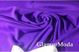 Штапель однотонный фиолетовый цвет