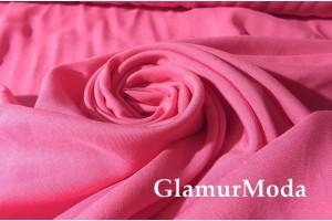 Штапель однотонный насыщенно розовый цвет