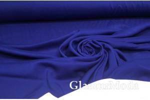 Штапель однотонный глубокий синий цвет