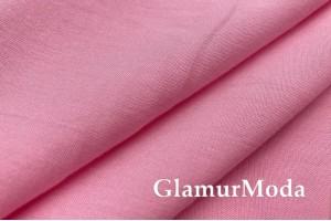 Штапель стрейч однотонный нежно-розовый