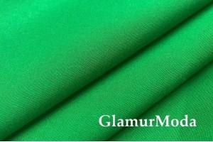 Штапель стрейч однотонный насыщенный зеленый