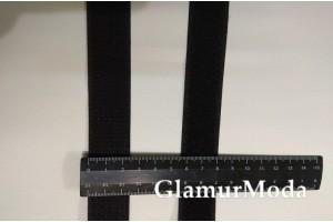 Лента контакт липучка 2,5 см черная