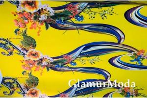 Софт цветочные узоры на желтом фоне