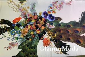 Софт цветы и павлиний хвост