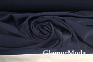 Турецкий спандекс темно-синего  цвета