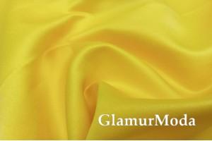 Свадебный сатин матовый, цвет желтый, арт.32, Турция