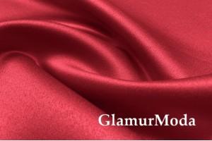 Свадебный сатин матовый, цвет красный, арт.38