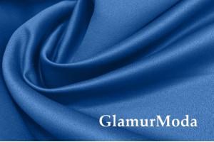 Свадебный сатин матовый, цвет синий, арт.40
