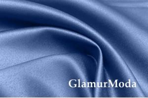 Свадебный сатин матовый, цвет синий, арт.50