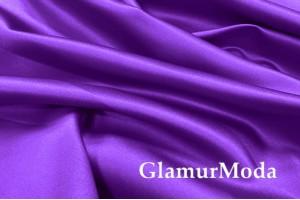 Свадебный сатин фиолетового цвета