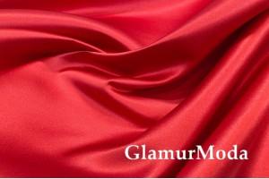 Свадебный сатин красного цвета