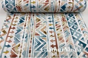 Ранфорс (поплин LUX) 240 см, разноцветная геометрия