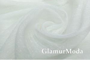 Тюль сетка белого цвета, арт. 329, 280 см, с утяжелителем